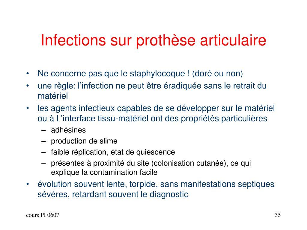 Infections sur prothèse articulaire
