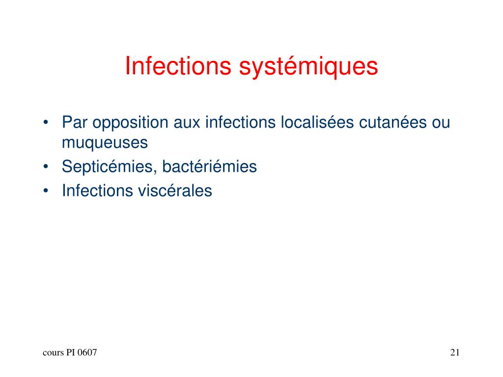 Infections systémiques