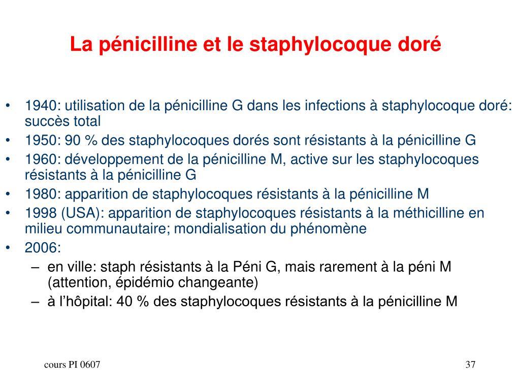 La pénicilline et le staphylocoque doré