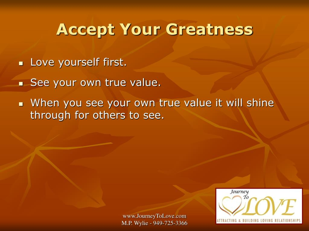 Accept Your Greatness