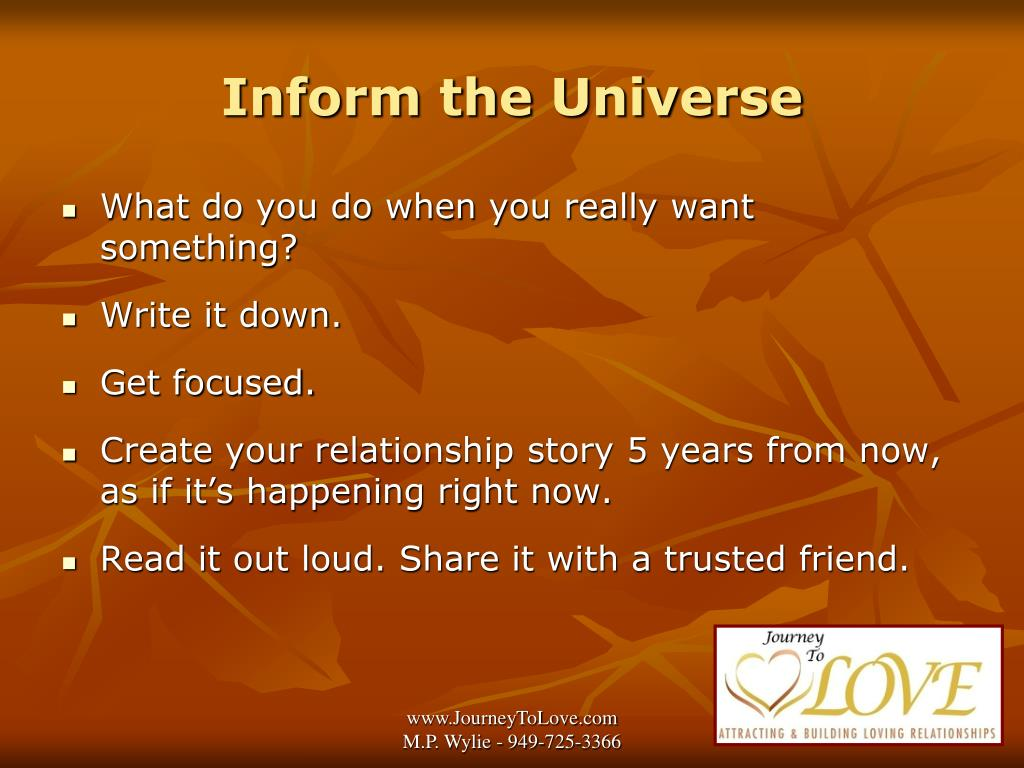 Inform the Universe