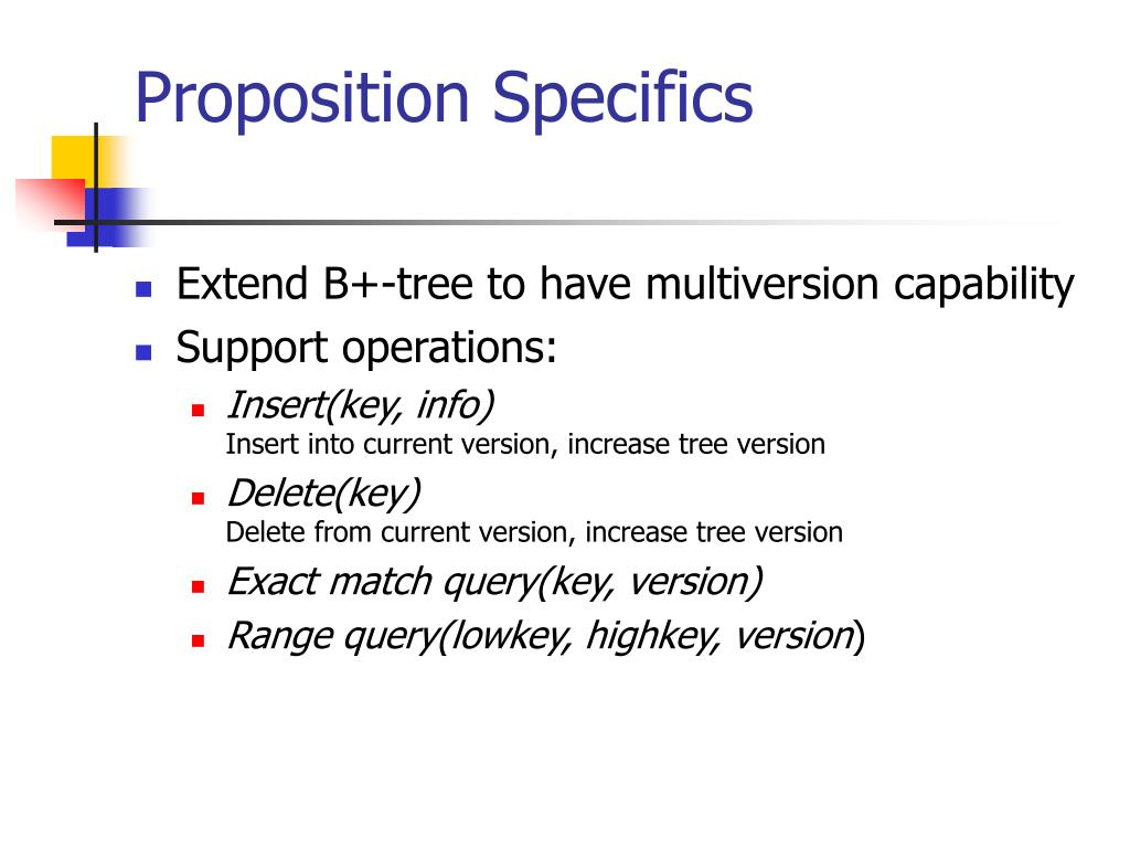 Proposition Specifics