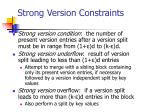 strong version constraints