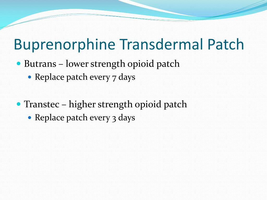 BuTrans 5, 10 and 20ug/h Transdermal Patch - Summary of