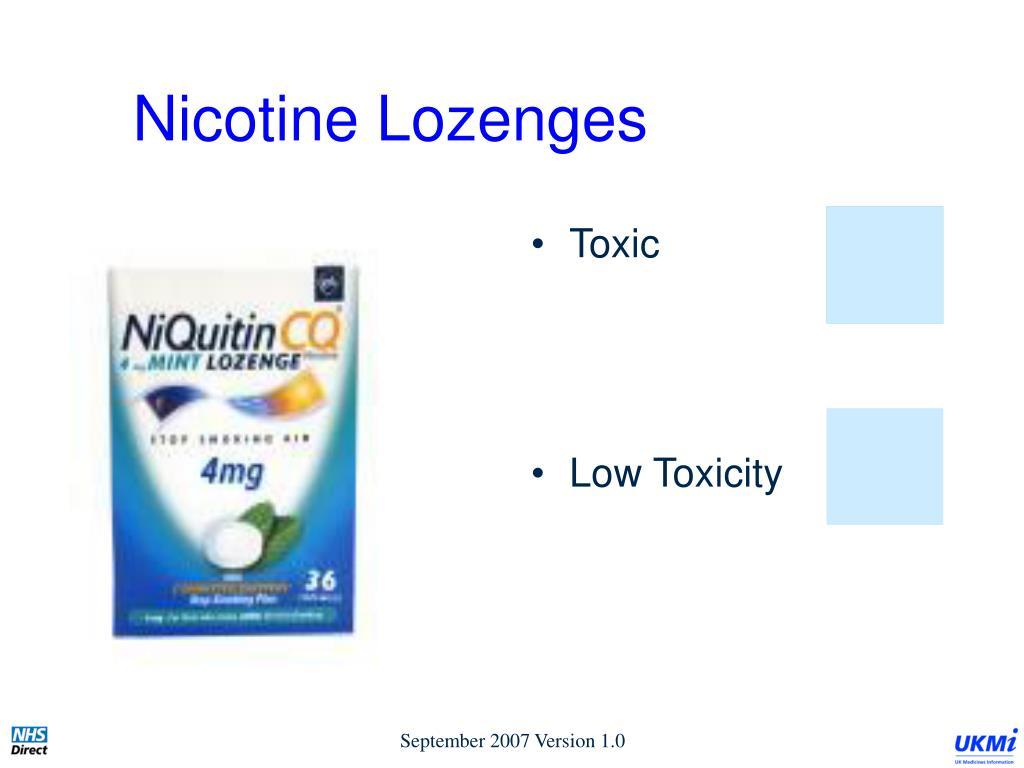 Nicotine Lozenges