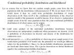 conditional probability distribution and likelihood