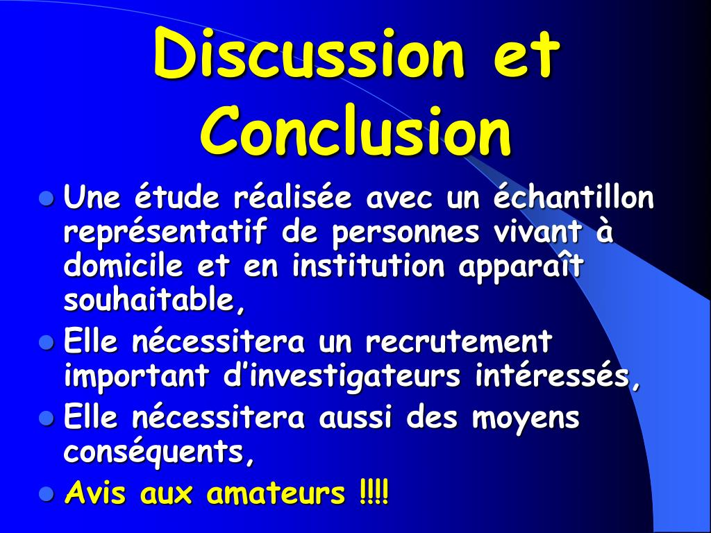 Discussion et Conclusion