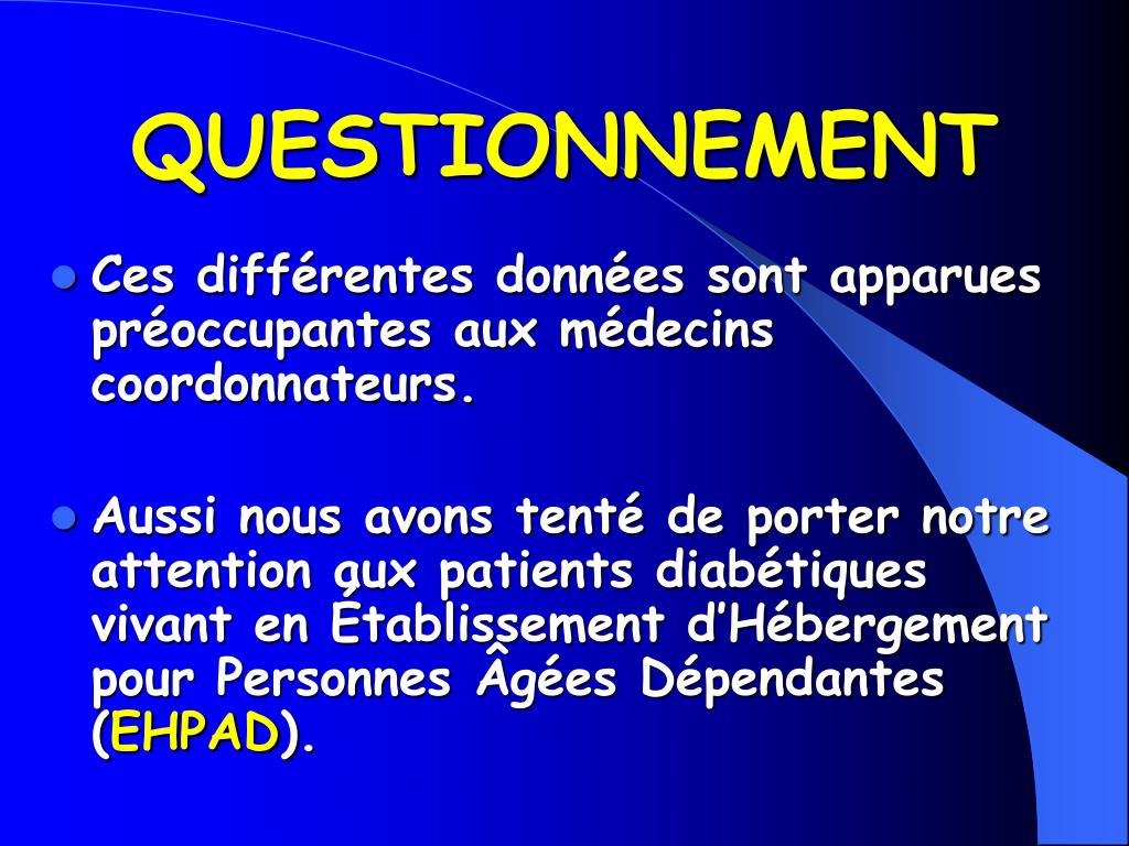 QUESTIONNEMENT