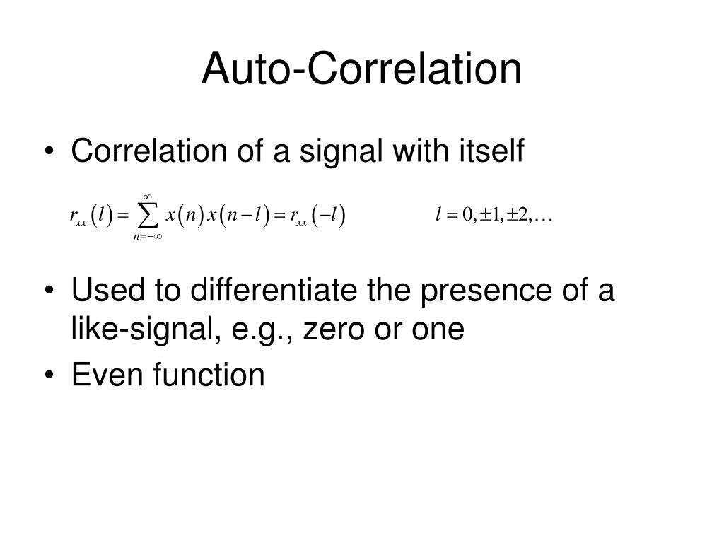 Auto-Correlation
