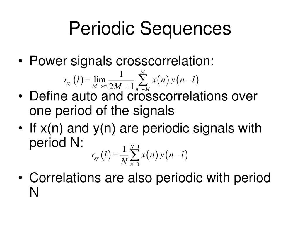 Periodic Sequences