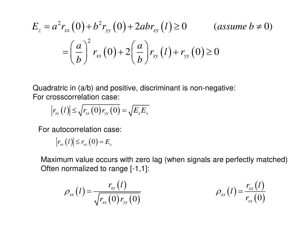 Quadratric in (a/b) and positive, discriminant is non-negative: