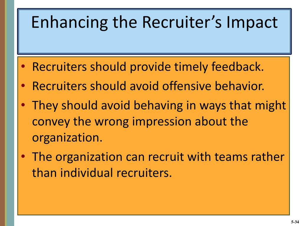 Enhancing the Recruiter's Impact