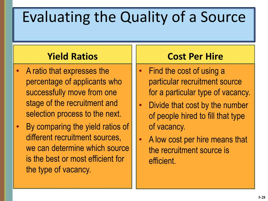 Evaluating the Quality of a Source