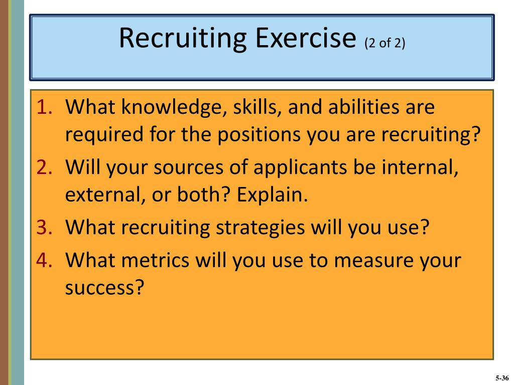 What knowledge, skills, and abilities are required for the positions you are recruiting?
