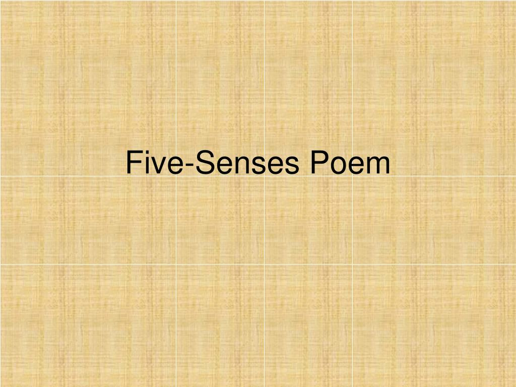 Five-Senses Poem