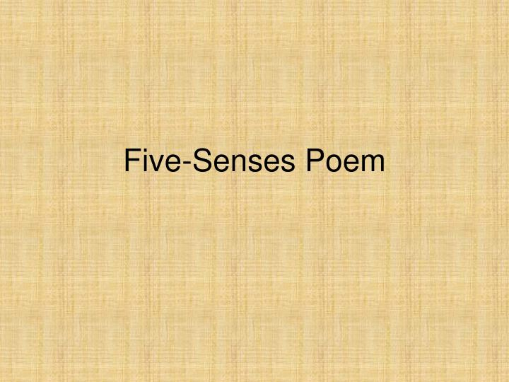 Five senses poem