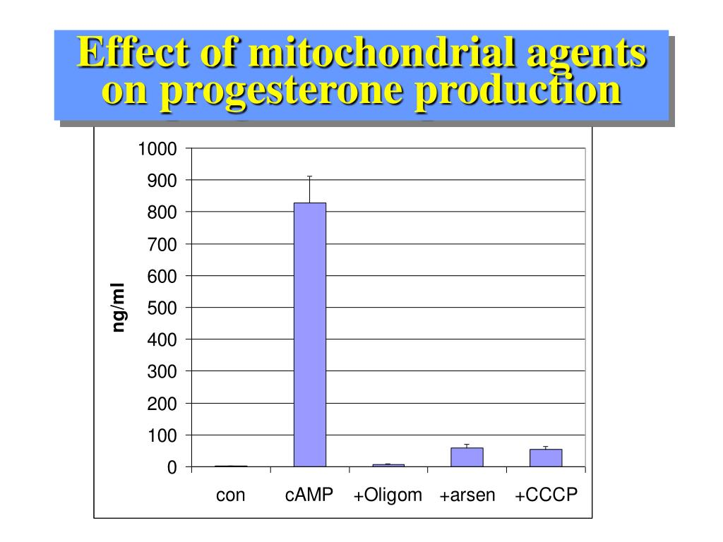 Effect of mitochondrial agents  on progesterone production