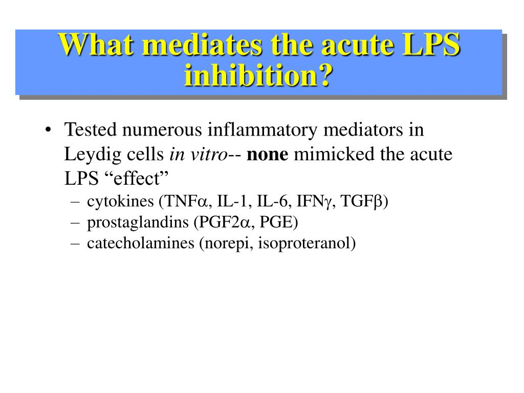 What mediates the acute LPS inhibition?