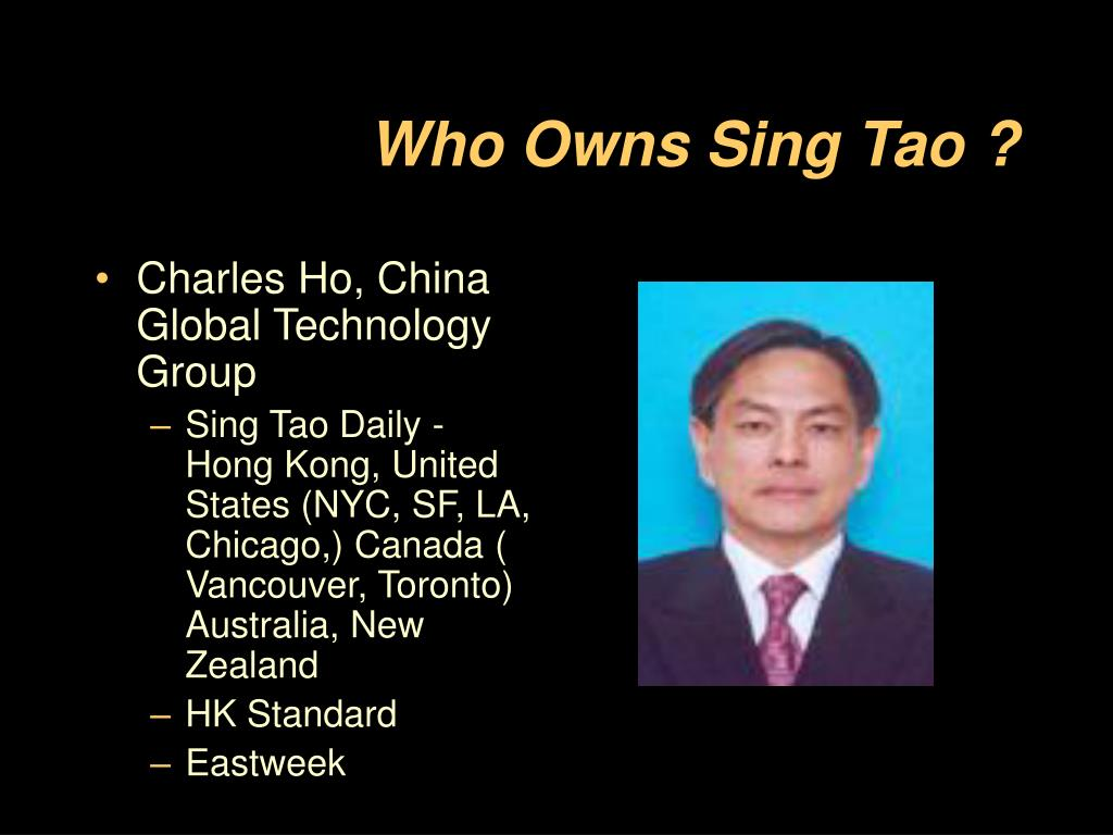 Who Owns Sing Tao ?