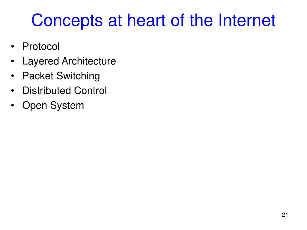 Concepts at heart of the Internet