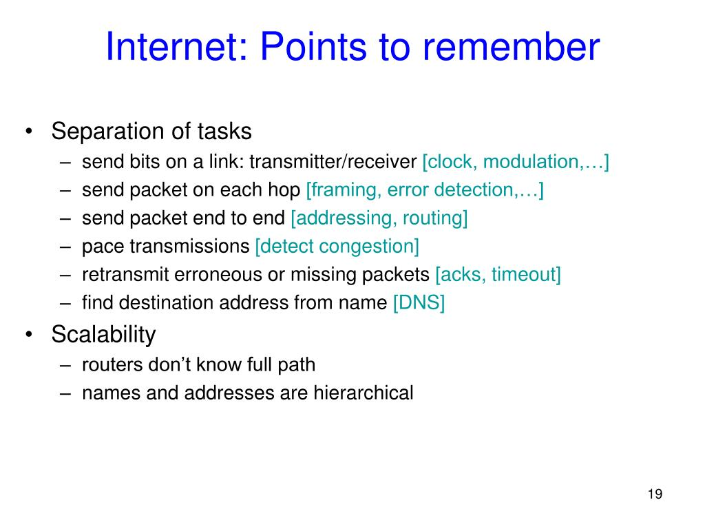 Internet: Points to remember