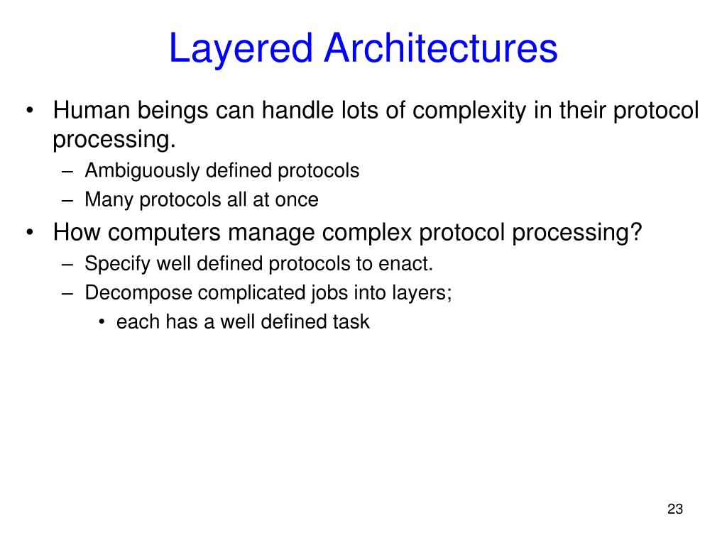 Layered Architectures