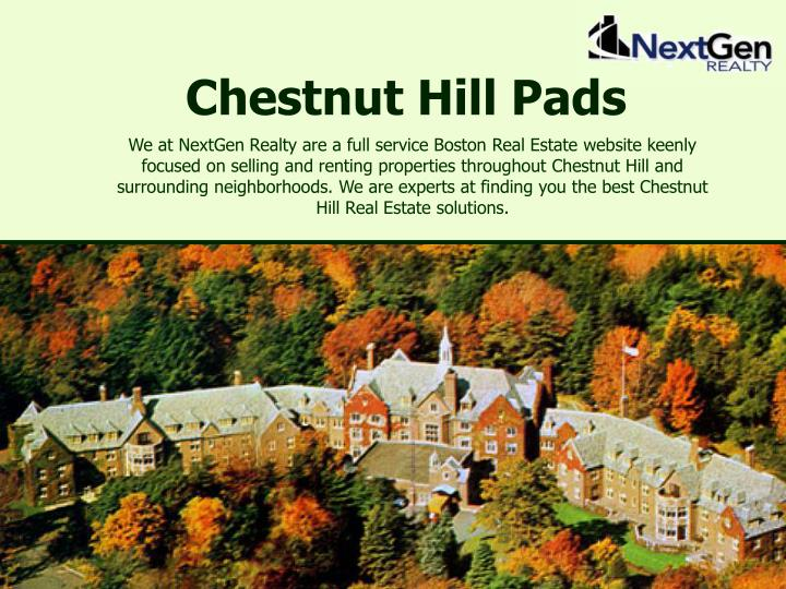 Chestnut hill pads