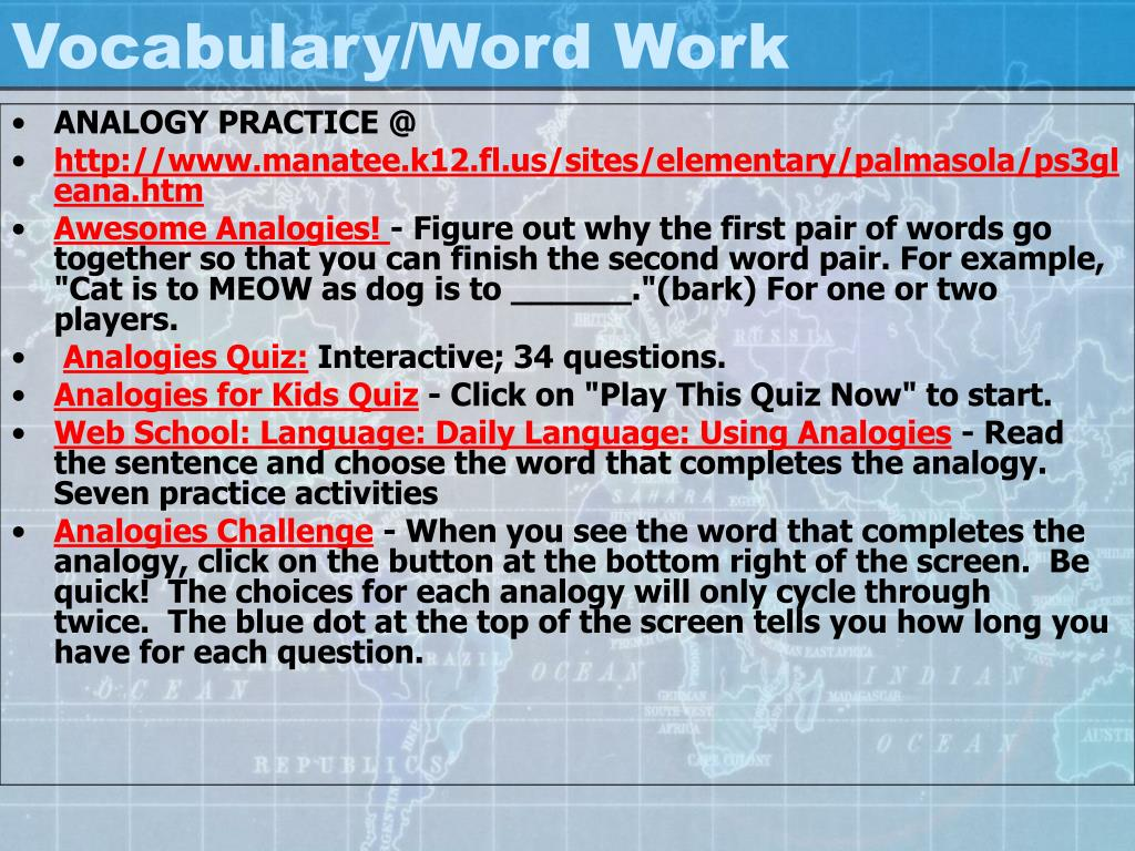Vocabulary/Word Work