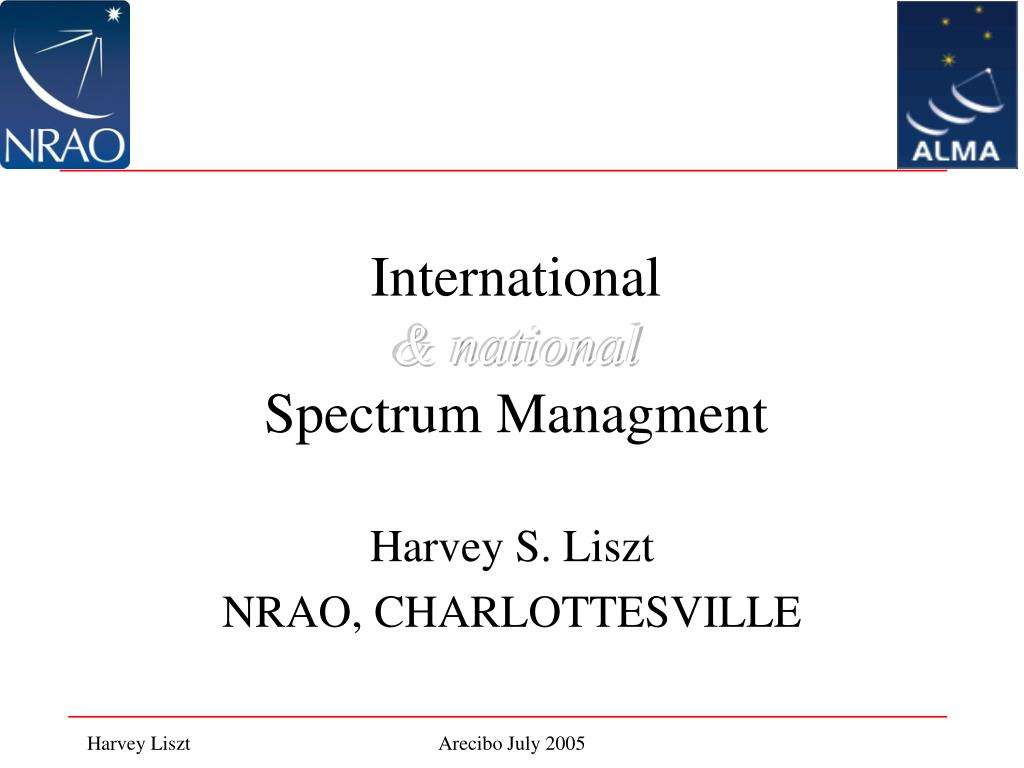international national spectrum managment