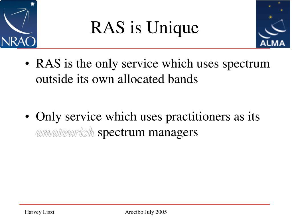 RAS is Unique