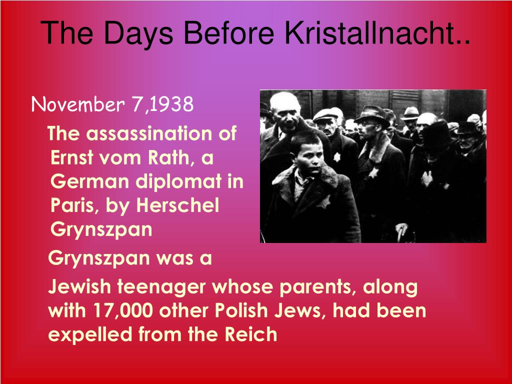 The Days Before Kristallnacht..