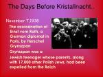 the days before kristallnacht