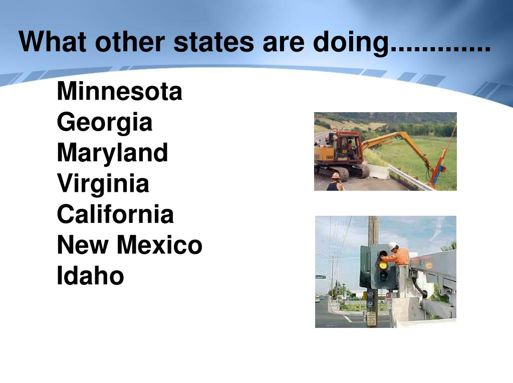 What other states are doing.............