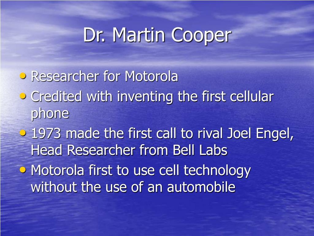 Dr. Martin Cooper