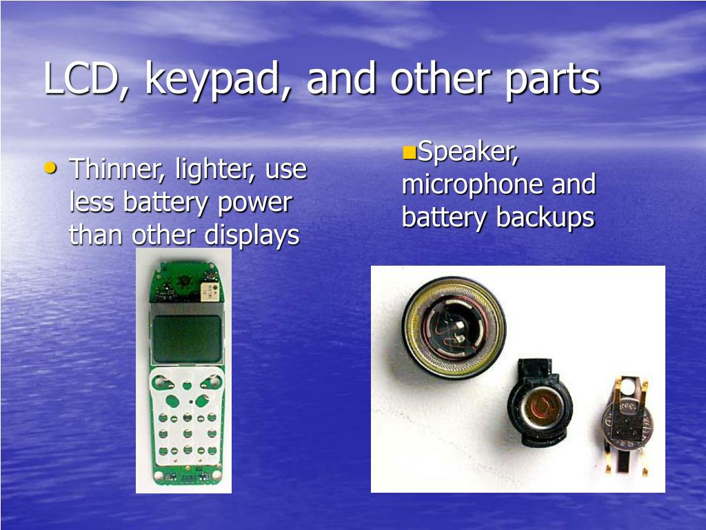 LCD, keypad, and other parts