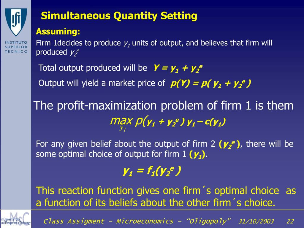 Simultaneous Quantity Setting