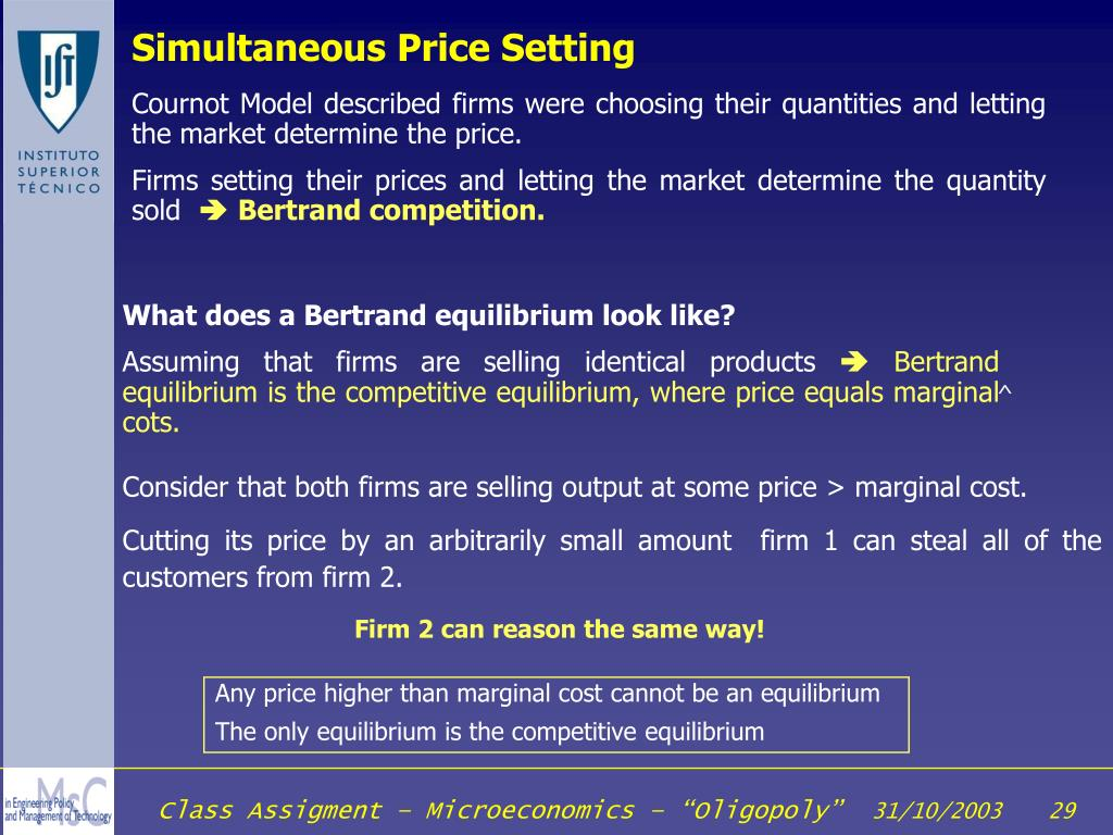Simultaneous Price Setting