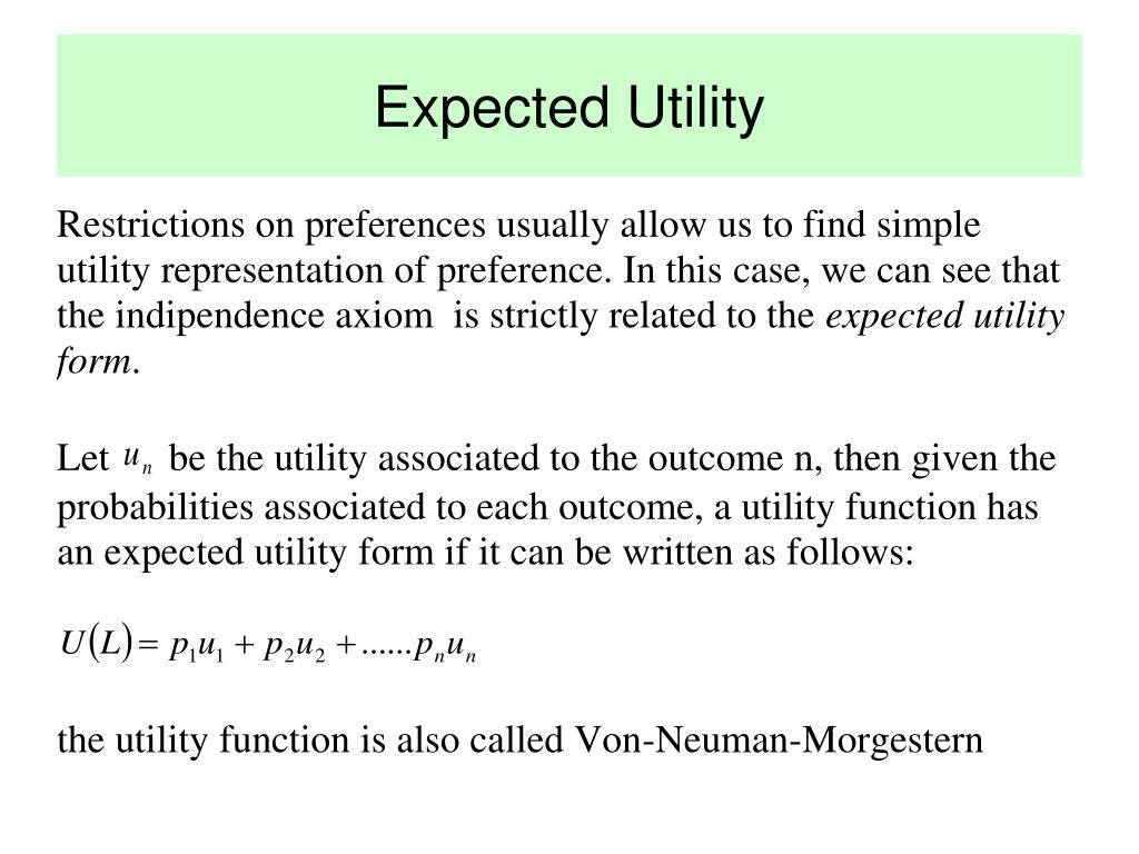 Expected Utility