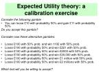 expected utility theory a calibration exercise