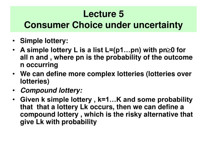 Lecture 5 consumer choice under uncertainty l.jpg