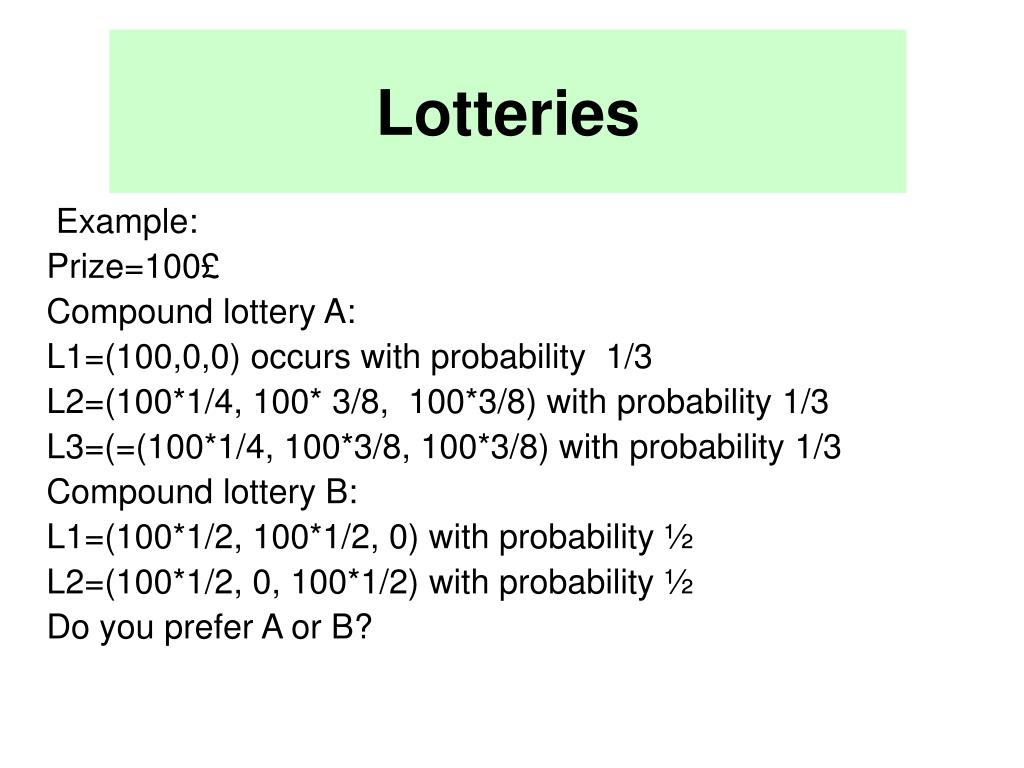 Lotteries
