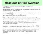 measures of risk aversion16