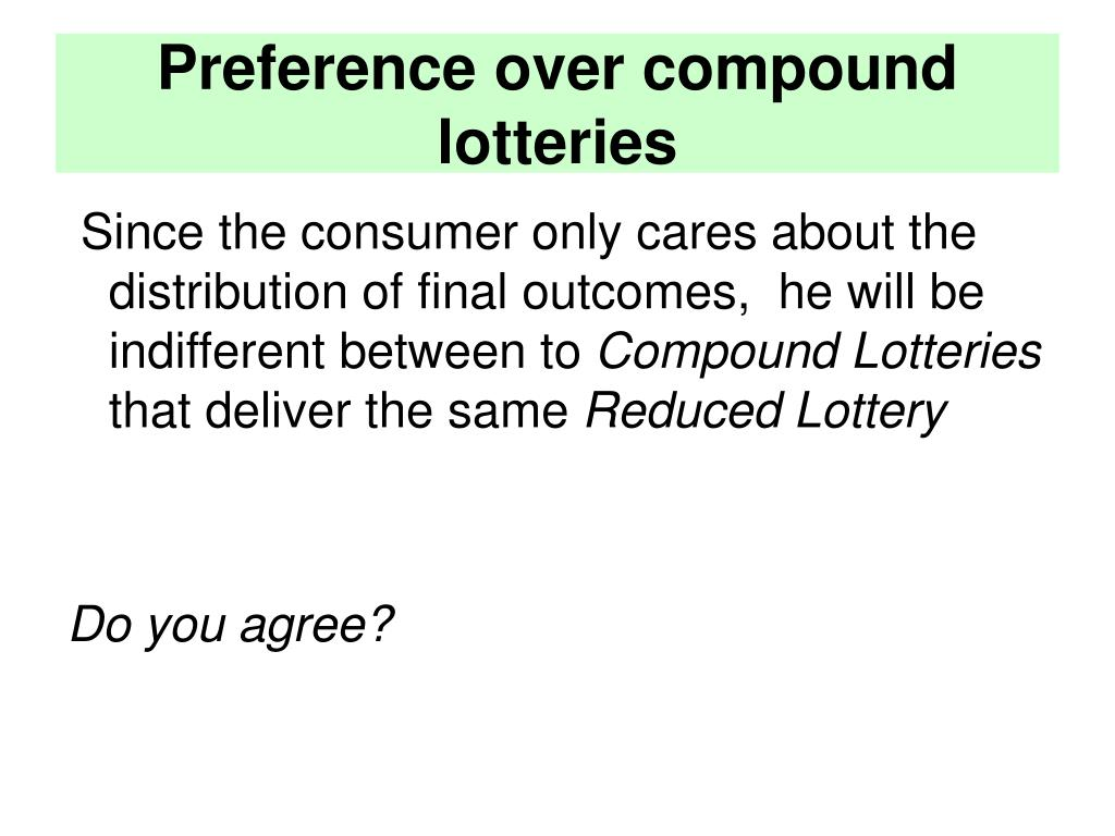 Preference over compound lotteries