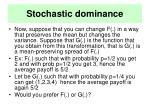stochastic dominance20