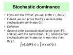 stochastic dominance21