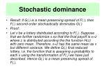 stochastic dominance22