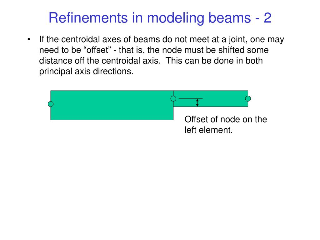 Refinements in modeling beams - 2