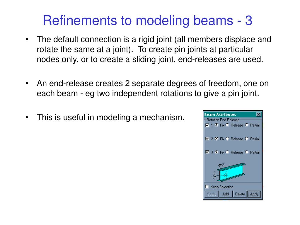 Refinements to modeling beams - 3