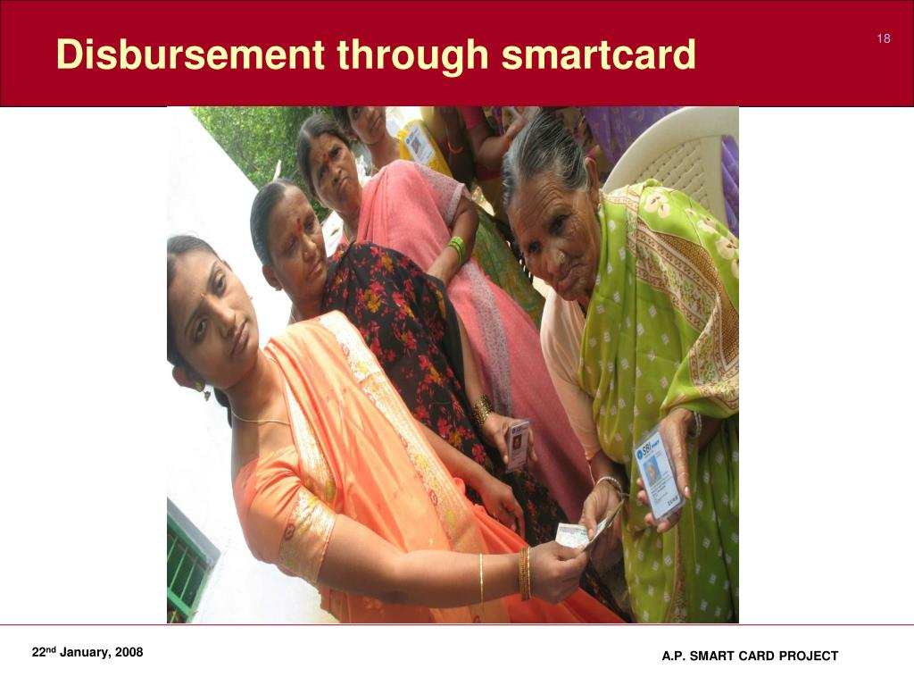 Disbursement through smartcard