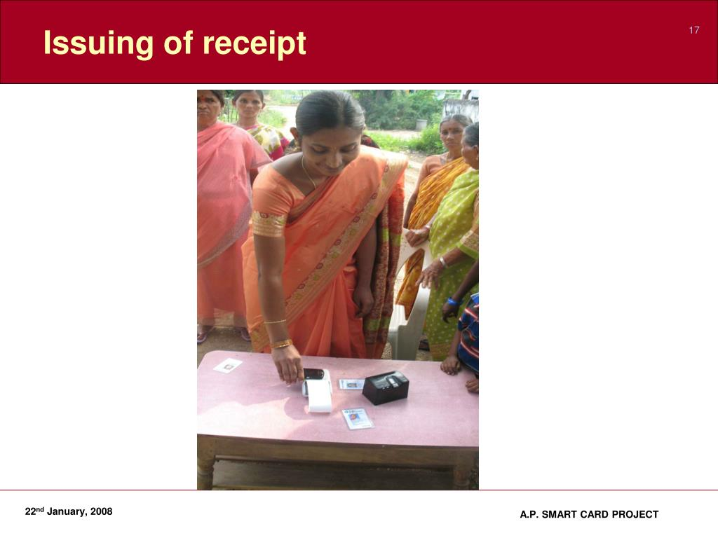 Issuing of receipt